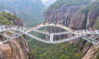 Podul ca un ochi în cer o nouă construcţie spectaculoasă în China Podul lung de 100