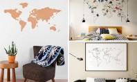 Cu harta lumii pe perete! Iată 10 modele interesante de hărți Ti-am pregatit 10 modele interesante
