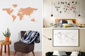 Cu harta lumii pe perete! Iată 10 modele interesante de hărți