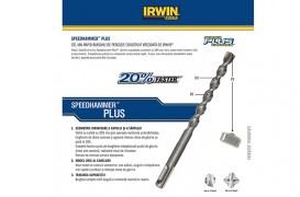 Cel mai rapid burghiu de percutie: Speedhammer PLUS - IRWIN