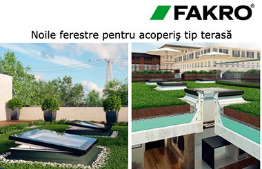 Ferestre Fakro pentru acoperis tip terasa