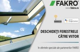 Ferestrele FAKRO cu modul WiFi – Bucuria de a trăi la mansardă