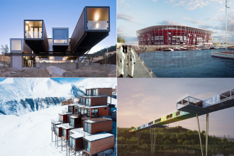 10 construcții impresionante din containere maritime