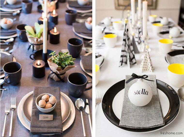 Idei simple, dar memorabile pentru designul mesei de Crăciun