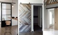 """Uși glisante de """"hambar"""" în spații moderne In functie de designul casei aveti de ales intre"""