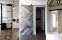 """Uși glisante de """"hambar"""" în spații moderne"""