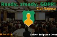Evenimentul Ready, steady, GDPR ajunge la Cluj-Napoca: provocări și soluții în procesul de adaptare la noile modificări BusinessMark anunță organizarea conferinței Ready, steady, GDPR!, ce va avea loc pe 18 aprilie 2018, la Hotel Golden Tulip Ana Dome, Cluj-Napoca. Scopul evenimentului este de a prezenta principalele soluții cu privire la adaptarea companiilor în contextul implementării Regulamentului General privind Protecția Datelor (GDPR).