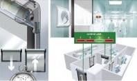 Ușa rapidă Dynaco Cleanroom Viteza de dechidere este de 2 7m sec iar usa se autorepara