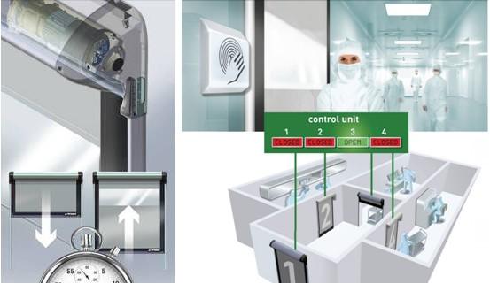 Ușa rapidă Dynaco Cleanroom