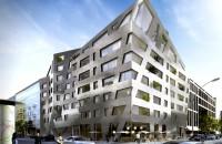 Imobil de apartamente cu forme ascutite si fatada metalizata marca Daniel Libeskind