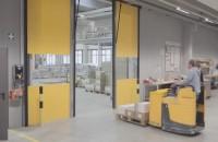 Ușa Butzbach, cea mai rapidă ușă industrială din lume Usa rapida Butzbach accesorizata cu radare speciale duce la o economie maxima de energie in conditiile unui trafic extrem de fluent.