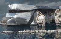 """Un arhitect rus vrea să reconstruiască faimoasa Fereastră de Azur  O autentica """"fereastra"""" a naturii prin care puteai admira unele dintre cele mai spectaculoase apusuri de soare de pe Marea Mediterana, formatiunea carstica in"""