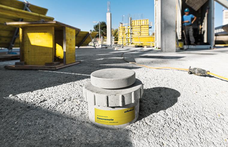 Doka Concremote - monitorizarea evolutiei betonului in timp real