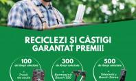 Reciclezi și câștigi garantat premii Avem pregătite pentru tine un număr de 800 de premii alese