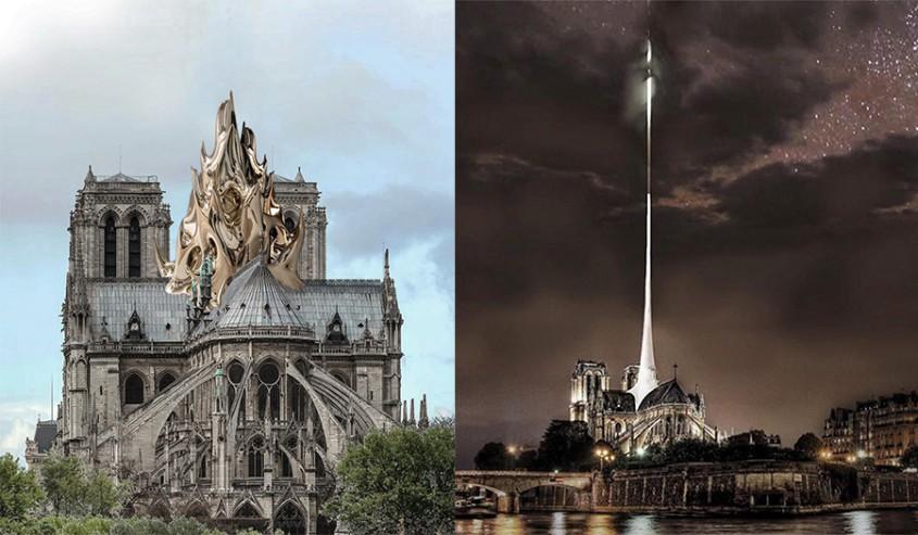 9 propuneri pentru reconstructia Catedralei Notre-Dame