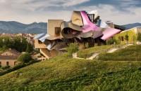 Hotel de lux poarta amprenta arhitectului Frank Gehry Volumele deconstructiviste ce poarta semnatura maestrului Frank Gehry se intrevad printre peticele de vegetatie din regiunea viticola Rioja.