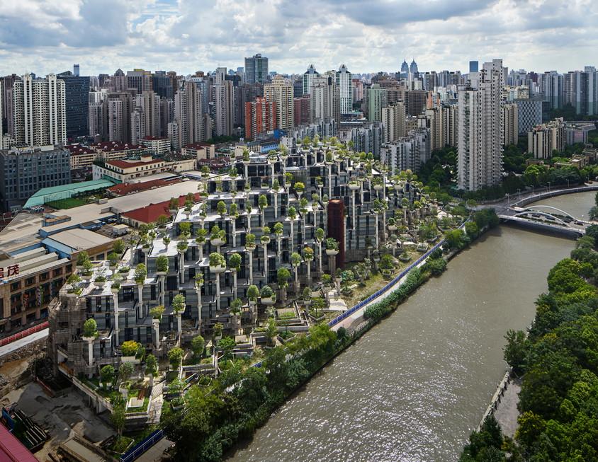 """Primele imagini cu uimitorul complex de clădiri """"O mie de arbori"""""""