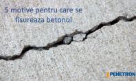 5 cauze ale fisurării betonul Tratament în masa betonului cu Penetron Admix Atunci cand este aplicat