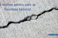 5 cauze ale fisurării betonul. Tratament în masa betonului cu Penetron Admix Atunci cand este