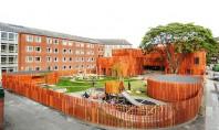 Forme curbe si un acoperis verde definesc cladirea unei gradinite din Copenhaga Biroul de arhitecti danezi