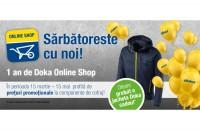 Oferte promoționale la aniversarea unui an de Doka Online Shop