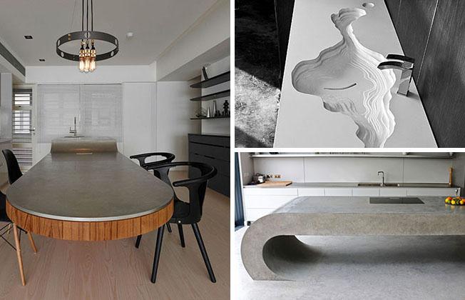 Cum să obții un design special cu ajutorul blaturilor din beton aparent