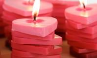 Bricolaj de Sf Valentin lumanari - inimioare in degrade Pentru ca se apropie Sf Valentin sarbatoarea