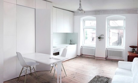 Apartament transformat de mobilierul mascat in pereti