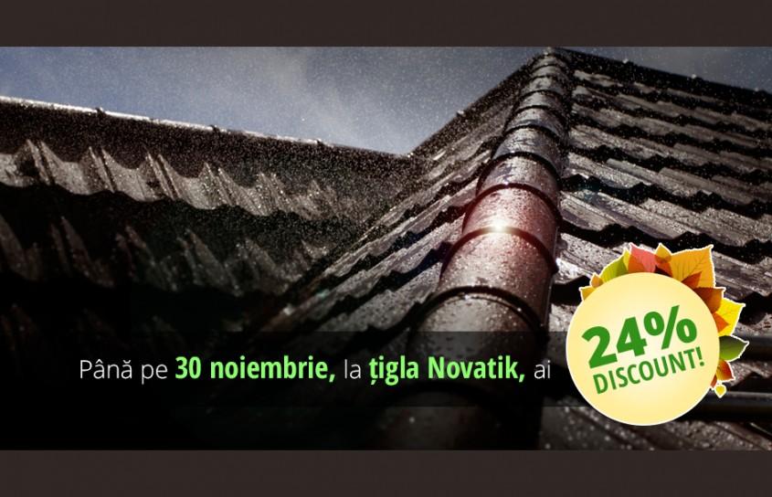 Sezonul reducerilor la tigla metalica NOVATIK