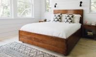 Alb și lemn - combinația câștigătoare pentru orice dormitor Albul adauga un sentiment calm intr-o incapere