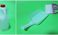 Bidonul de plastic pentru lapte devine noul faras de bucatarie Un faras micut va fi intotdeauna