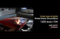 Biosemineul Groundfloor - masuta de cafea cu flacari adevarate