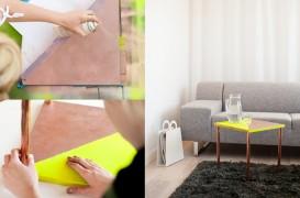 Masuta de cafea cu picioare de alama - un proiect DIY usor si de efect