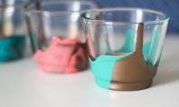 Decoratiuni usor de realizat - paharele vopsite Pentru oricine doreste sa aduca un plus de culoare