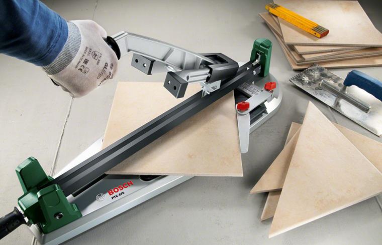 Taierea fara efort a placilor de gresie si faianta, cu noul Bosch PTC 470