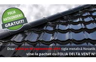 Promotie acoperisuri Novatik: GRATUIT folia anticondens Delta-Vent N, pana la 30 septembrie
