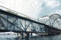 """Apartamente peste apă: O idee originală pentru salvarea unui pod vechi Dupa stihul """"altul mai trainic si mai frumos"""", autoritatile din Lidingo au destinat pieirii structura destinata traficului pietonal si feroviar care dateaza"""