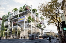 Un altfel de magazin Ikea: Arbori pe fațadă și zero locuri de parcare