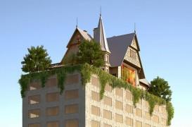 Philippe Starck construiește un hotel cu casă și grădină pe acoperiș