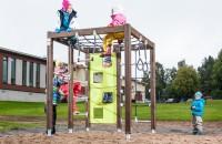 Elementele de Joaca Traditionale din Lemn au un nou Design, creat de Lappset Grupul Lappset, producatorul Finlandez de echipamente de joaca si furnizor de atractii tematice, a remodelat elementele traditionale din lemn din gama Finno cu noul design Scandinav.