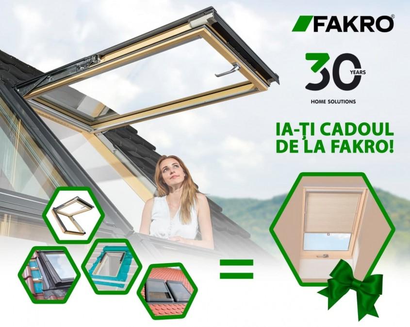 30 de ani de ferestre de mansardă. Ia-ţi cadoul de la FAKRO!