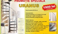 Scara în spirală Uranus - Promoție specială Scara are urmatoarele caracteristici Scara elicoidala cu 12 trepte