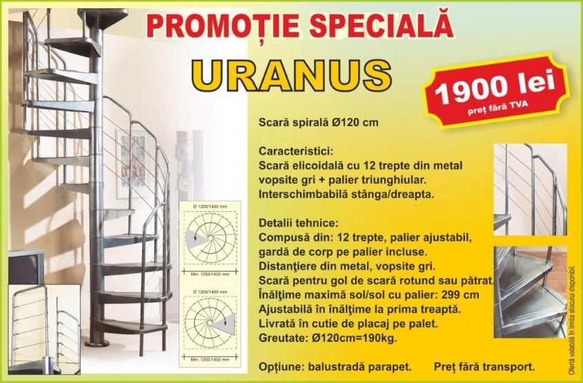 Scara în spirală Uranus - Promoție specială