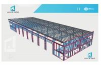Deschideri mari fara stalpi intermediari cu halele MEXI  Halele MEXI pot avea deschideri pana la 20-21 m fara stalpi intermediari si inaltimi pana la 6 m.
