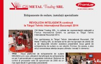 REVOLUTIA INTELIGENTA continua la TIB 2014 - CM METAL Trading