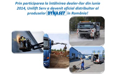 Unilift Serv a devenit distribuitor oficial al produselor Dynaset in Romania!