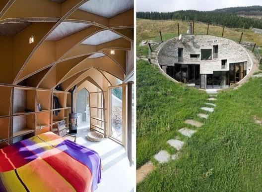 O vila din Elvetia ascunsa in versantul unui munte