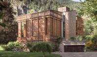 Un trafor elaborat in lemn invaluie o casa din Austria Locuinta este amplasata langa un lac