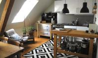 Mini-apartament amenajat intr-o mansarda Aceasta mansarda din Zurich Elvetia are o suprafata de doar 55mp dar