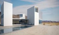 Four Eyes House casa care priveste la peisajul desertului Proiectul de arhitectura minimalista 'Four Eyes House'